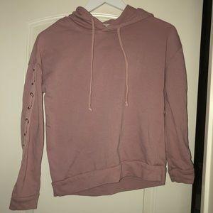 Pink hoodie top